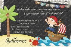 Convite Digital - Piratas #1 | Festas Personalizadas | Lembrancinhas | Scrap Festa | Scrappiness Designs