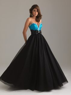 Black Ball Gown Night Moves Prom Dress 6482: DressProm.net