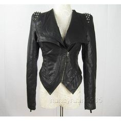 Studded black leather jacket... are the spikes too spiky?