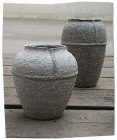 paper pots - though I'm torn...pottery or paper?