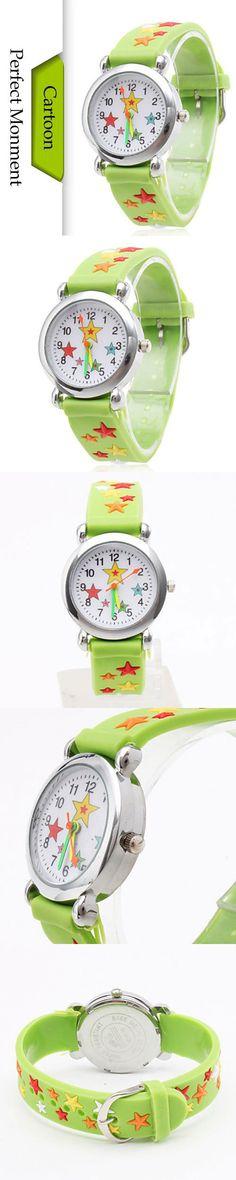 2016 New Children Cartoon Watches Star Pattern Waterproof Children Silicone Watch Quartz Kids Child Wrist Wristwatches