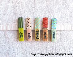 Washi Tape Labels | 23 Adorable DIYs You Can Make With Clothespins