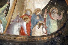 Andrea di Bonaiuto - volta - Navicella di san Pietro apostolo, dettaglio - affresco - 1365-1367 - Cappellone degli Spagnoli - Museo di Santa Maria Novella, Firenze