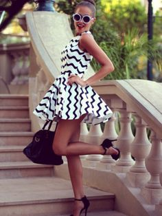 The chevron skater dress you need! Click on the photo to get it!
