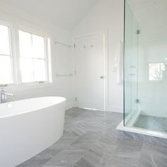 Grey Bathroom Floor Tiles Design Ideas, Pictures, Remodel and Decor