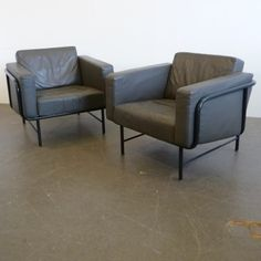 Pair of lounge chairs by Hans Eichenberger for Strässle,