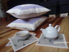 Patchwork souprava Levandy Bed Pillows, Pillow Cases, Scrappy Quilts, Pillows