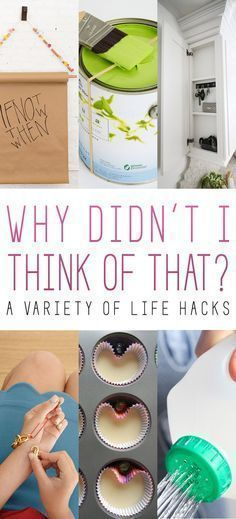 LIFE Hacks Why Didn't I Think Of That. These Life Hacks will help you with every day small problems! You won't believe how well they work! I absolutely love the elastic band on the paint can hack! Diy Hacks, Home Hacks, Cleaning Hacks, Cleaning Products, Simple Life Hacks, Useful Life Hacks, Things To Know, Good Things, Do It Yourself Inspiration