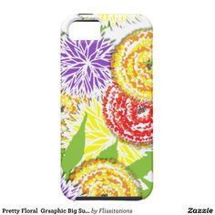 Pretty Floral  Grsaphic Big Summer Flowers iPhone 5/5S Cover