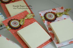 post-it note holders ~ Use a cheap plastic picture frame...fill with any kind of background paper and decorate any way you like. Glue a post it note pack to it. So easy.