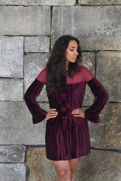 "Raquel Baptista ""Mind, Body & Soul"" Lookbook - Look9: Boho Velvet Burgundy Dress!"