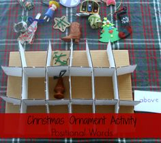 {Christmas Ornament Activity} Positional Words