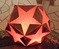 Sternenlaterne aus Fünfecken Freebie und Tutorial zum Plotten oder Ausdrucken