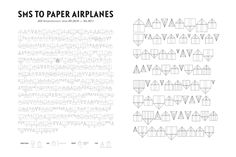 SMS to Paper Airplanes by Christian Gross