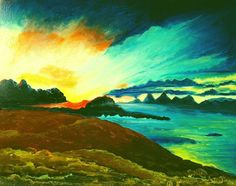 Abstract Scottish Landscapes #1 Isle of Skye 50 x 40 cm