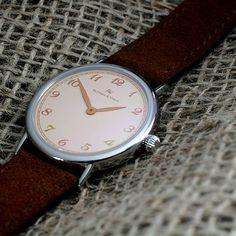 With beautiful velour leather strap