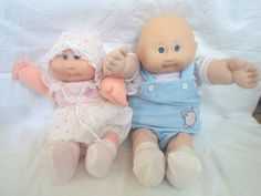 Vintage 1985 Cabbage Patch Kids Neon Preemie HM1 Girl Boy Baldie 1 Tooth Clothes #CabbagePatchKId #DollswithClothingAccessories