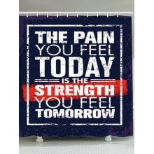 The Pain You Feel Today Is The Strength You Feel Tomorrow Motivation Quote.