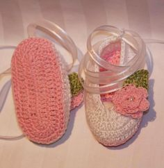 Crochet baby booties ballerina slippers