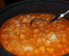 Rezept Tomaten-Sahne-Sauce mit gedämpften Gnocchi von Rosamariella - Rezept der Kategorie sonstige Hauptgerichte
