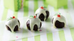 Little chocolate Christmas puddings