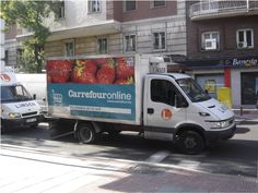 grocery delivery truck | Photo: Dr. Laetitia Dablanc. Delivery Truck for E-groceries, Madrid ...