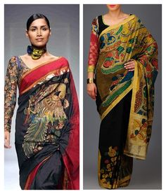 Beautiful Kalamkari blouse designs can add style statement to even a simple saree. Kalamkari Blouse Designs, Simple Sarees, Latest Trends, Sari, Beautiful, Style, Fashion, Saree, Swag