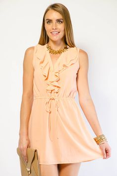 RUFFLE CHIFFON SHORT DRESS $19.99