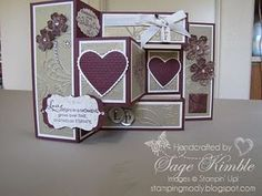 Wedding Card with Elegant Lines Embossing Folder » Stamping Madly - August 3 blog entry