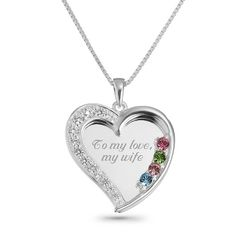 Sterling Silver Swing Heart Necklaces at Things Remembered