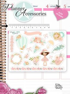 Frühling+Spring+Flowers+Sticker+Bogen+NR456+von+PlannerAccessories+-+Dein+Shop+für+Planner+Zubehör+auf+DaWanda.com