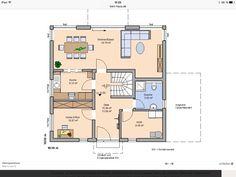 Grundriss Erdgeschoss Stadtvilla Kern-Haus