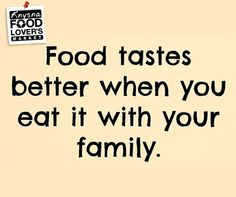Food tastes better when you eat it with your family. #FLMKnysna #Sunday #Motivation