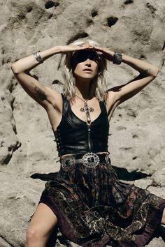 ☮ ➳ American Hippie Bohemian ➳ ☮  - Dress  ...    Boho Bohéme Feathers Gypsy Spirit Bizu Baroque Tati Tati
