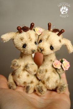 Giraffes Tanya and Tosha by Lastenka on Etsy, $100.00