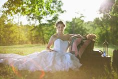 Gorgeous staging, perfect lighting.  Rustic wedding shoot.