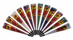 12 Golecha Multi Color Glitter Henna Cones For Body Art Decor Glitter Henna, Glitter Gel, Glitter Balloons, Golecha Henna, Glitter Bomb Mail, Hannah Tattoo, Henna Color, Glitter Slides, Cosmetic Grade Glitter