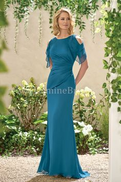 Jade Collection J195004 Tiffany Chiffon With Stretch Lining Mother Of The Bride Dress