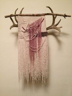 Bleeding Heart hand woven wall tapestry by NightOwlArts on Etsy