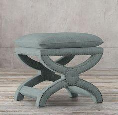 Toscane Upholstered Nailhead Stool