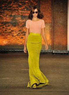 Chartreuse and peach are such a fab combo. Christian Siriano - Spring '12