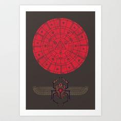 Sacred Sun Art Print by Hector Mansilla - $19.00