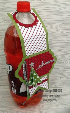 Jan Girl: Stampin' Up Merry Moments Wine Topper