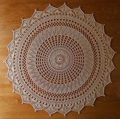 Beautiful crochet table center piece...Free pattern!!