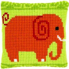 Elephant Chunky Cross Stitch Cushion Kit