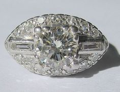 a totally fab Art Deco ring, 1.57ct
