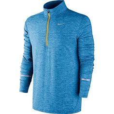 Nike Mens Dri-Fit Element Half Zip Running Top Squadron Blue Large