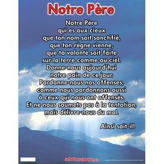 Notre Père - Scholar's Choice Full Day Learning Store with posters galore. Ships to US!