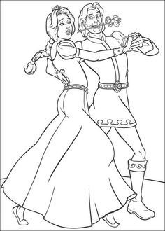 ShrekShrek 2 Coloring Pages Tying The Knot Pinterest Shrek