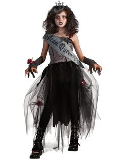 Check out Girl's Tween Gothic Prom Queen Costume - Wholesale Tween Costumes for Girls from Wholesale Halloween Costumes